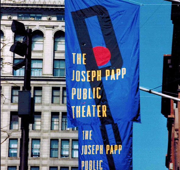 Flag showing Joseph Papp Public Theater