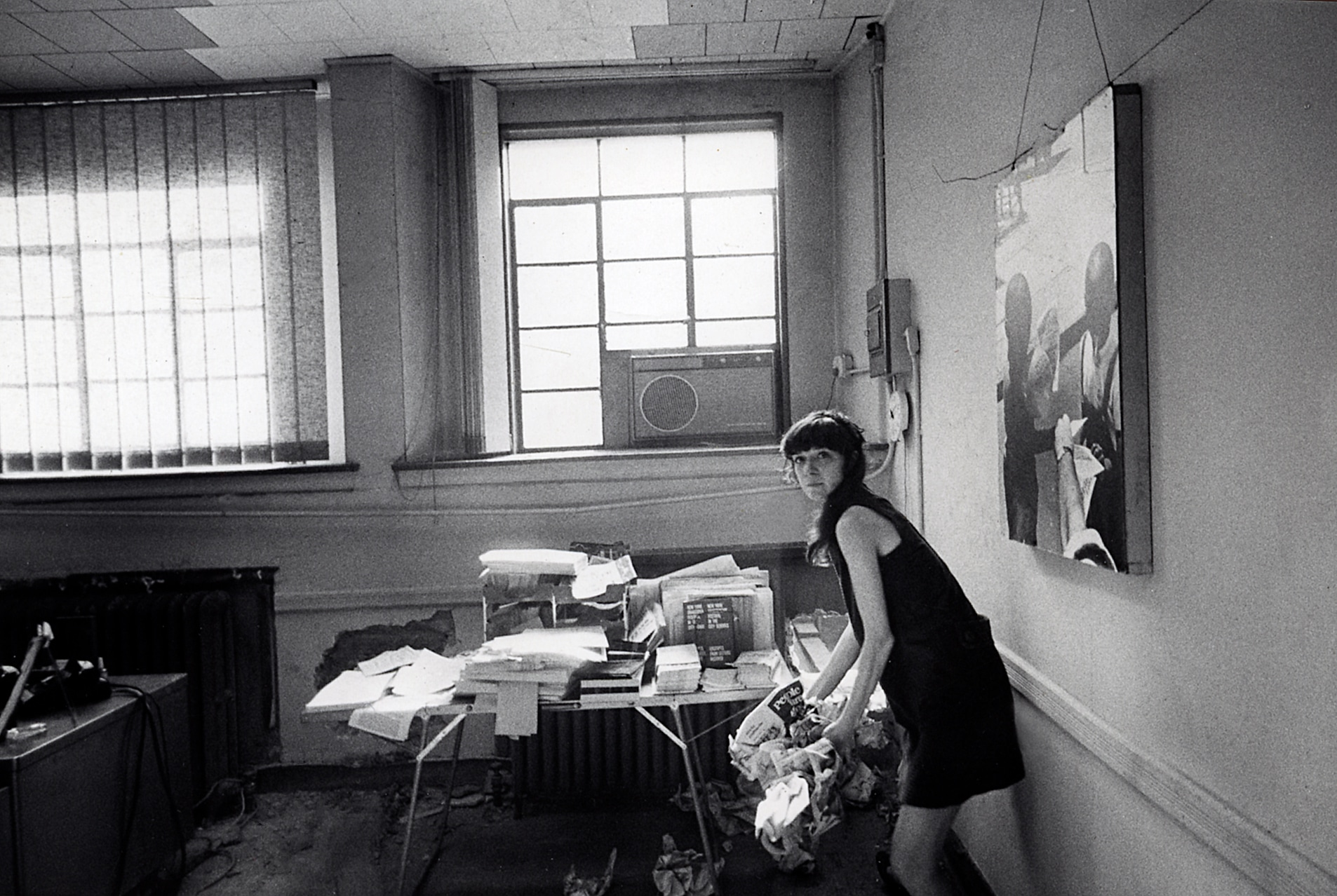 Gail Papp moving into office 1966