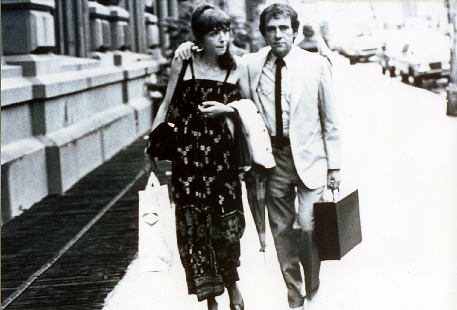 Joe and Gail walking home from Public Theater