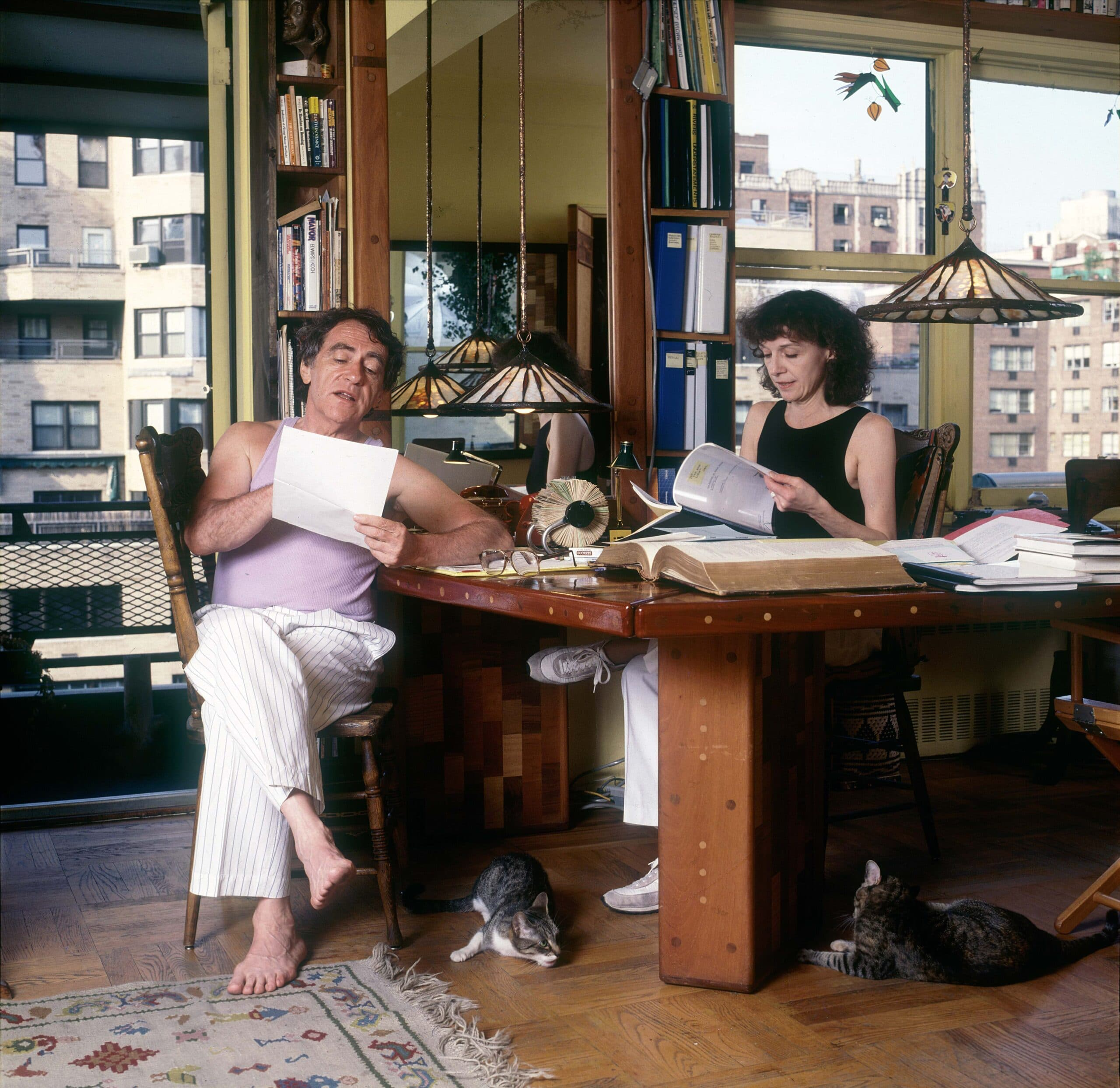 Joe & Gail Papp working at home