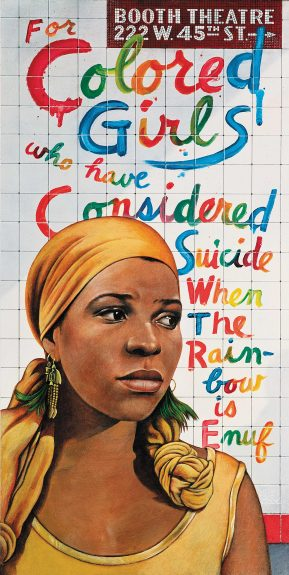 Ntozake Shange in for colored girls who have considered suicide/when the rainbow is enuf, 1976